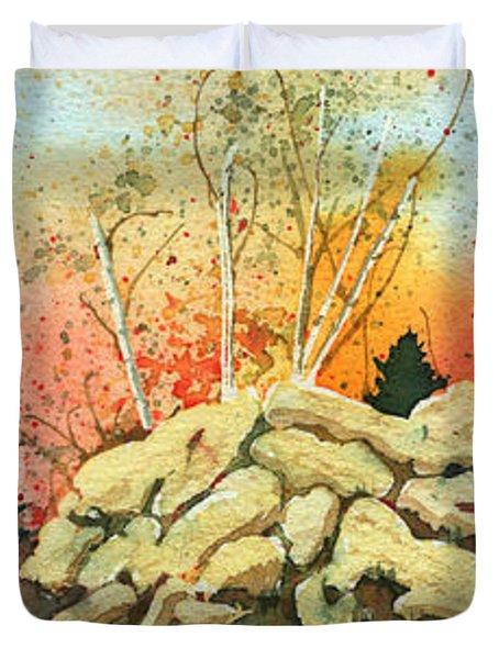 Triptych Duvet Cover