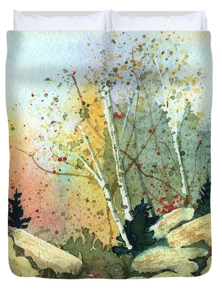 Triptych Panel 3 Duvet Cover