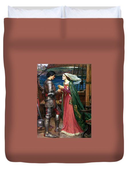 Tristan And Isolde With The Potion Duvet Cover