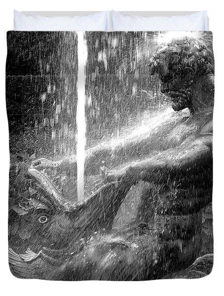 Triton Fountain Duvet Cover