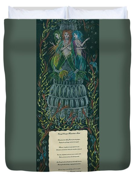 Triumph And Her Sisters Duvet Cover by Dawn Fairies