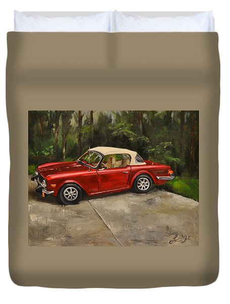 Duvet Cover featuring the painting Triumph by Lindsay Frost