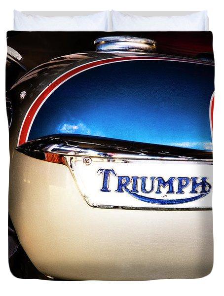 Triumph Motorcyle Duvet Cover