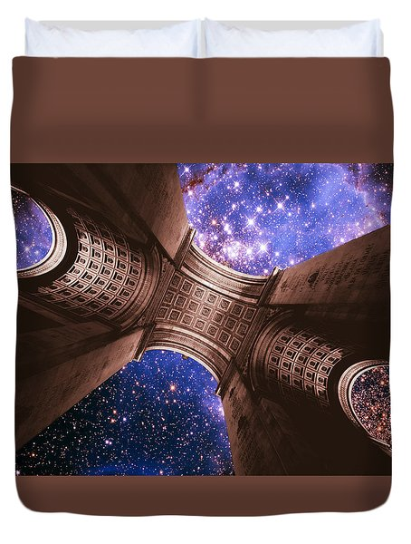 Triumph On A Cosmic Scale II - Arc De Triomphe Duvet Cover