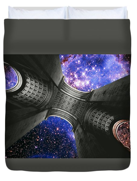 Triumph On A Cosmic Scale Iv - Arc De Triomphe  Duvet Cover
