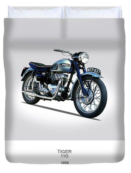 Triumph Tiger 110 1956 Duvet Cover by Mark Rogan