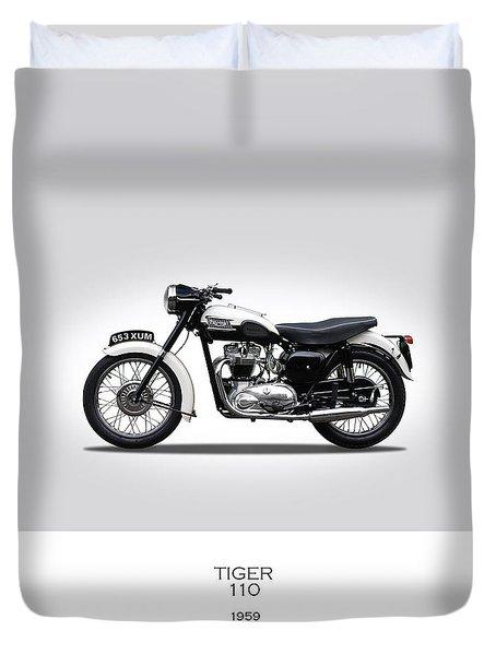 Triumph Tiger 1959 Duvet Cover by Mark Rogan