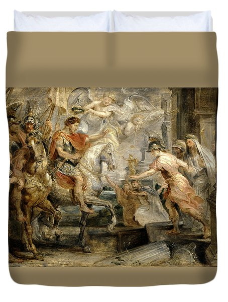 Triumphant Entry Of Constantine Into Rome Duvet Cover by Peter Paul Rubens