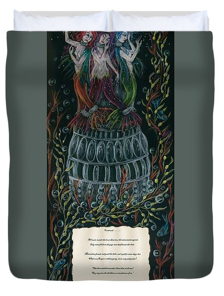 Triumph's Sisters Duvet Cover by Dawn Fairies