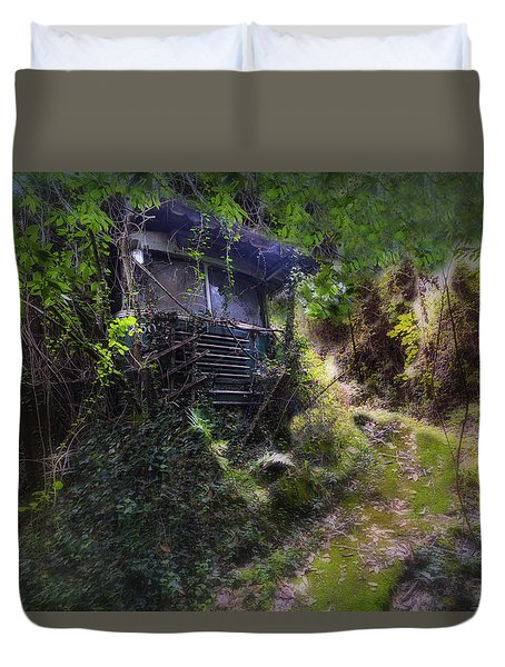 Trolley Bus Into The Jungle Duvet Cover