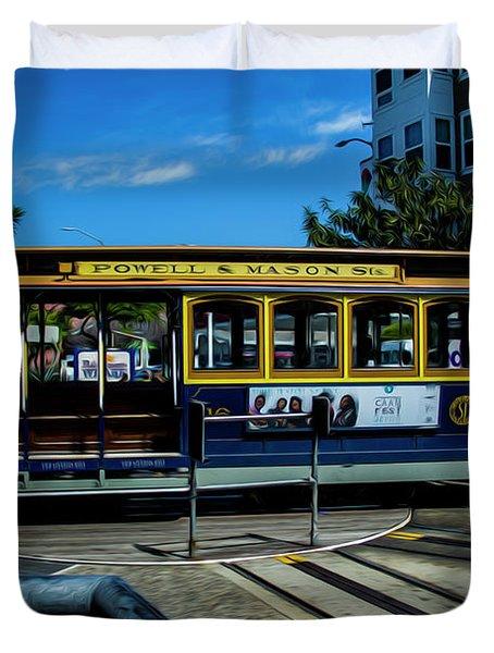 Trolley Car Turn Around Duvet Cover