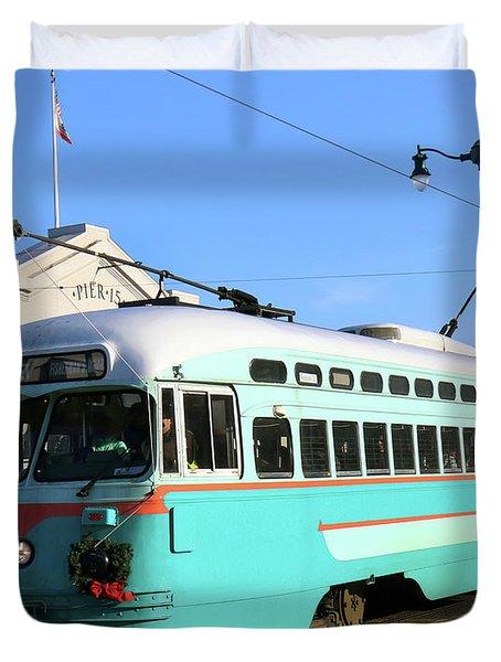 Trolley Number 1076 Duvet Cover by Steven Spak