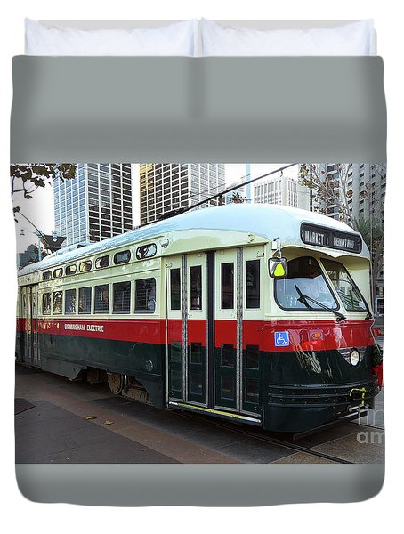 Trolley Number 1077 Duvet Cover