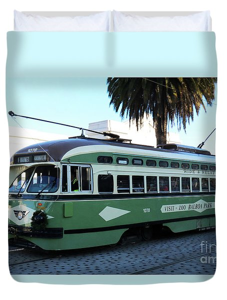 Trolley Number 1078 Duvet Cover