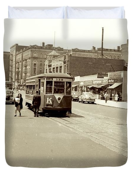 Trolley Time Duvet Cover