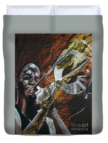 Trombone Shorty Duvet Cover by Stuart Engel