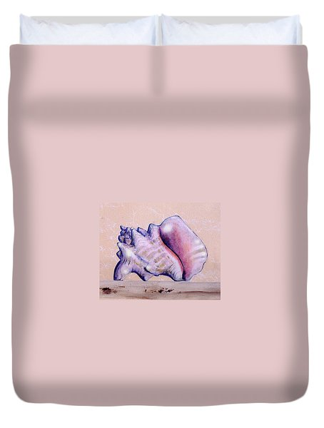 Trompe L'oeil Conch Shell Duvet Cover