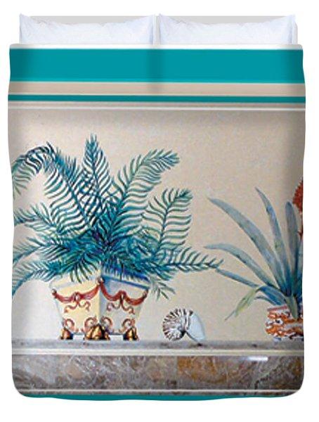 Trompe L'oeil Plants Duvet Cover