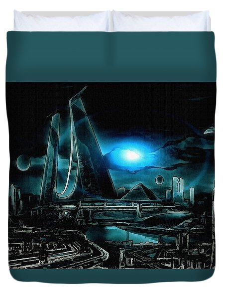Tron Revisited Duvet Cover by Mario Carini