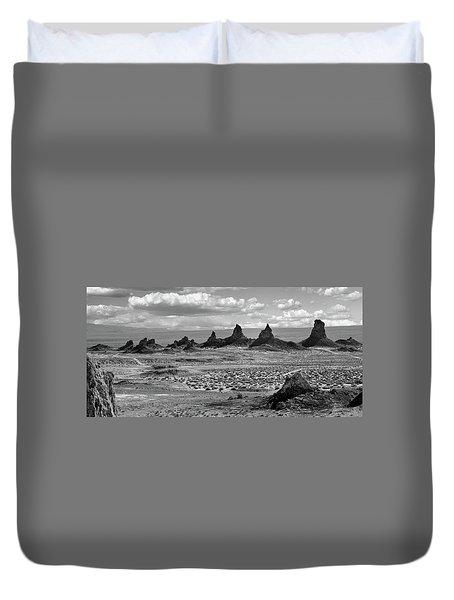 Trona Pinnacles Peaks Duvet Cover by Marius Sipa