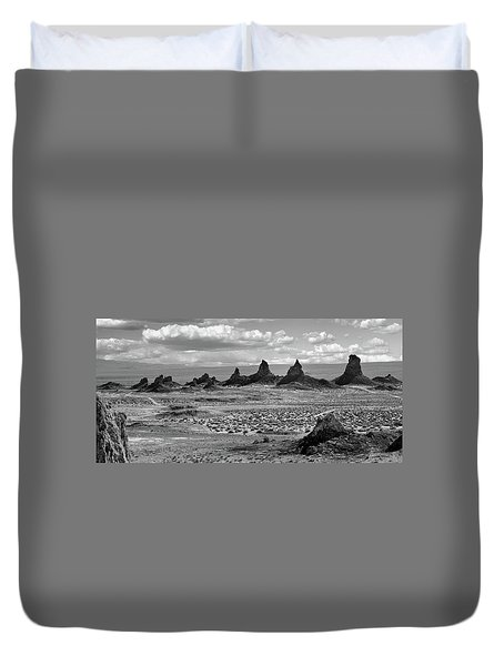 Trona Pinnacles Peaks Duvet Cover