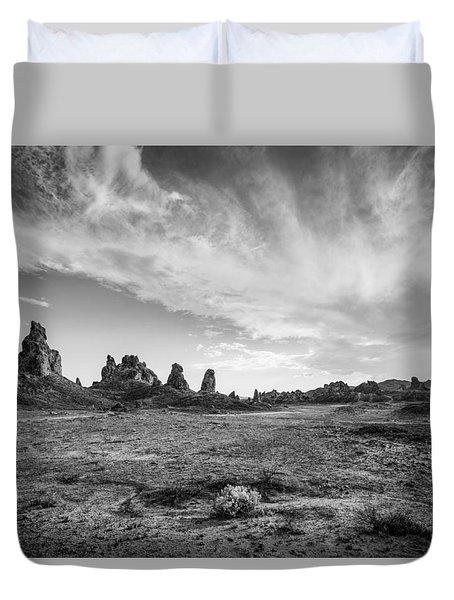 Trona Pinnacles Sky Duvet Cover