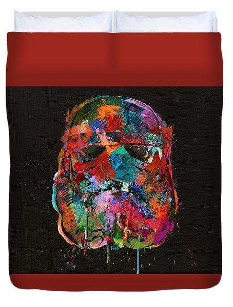 Trooper In A Storm Of Color Duvet Cover