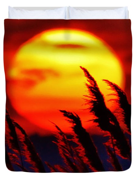 Tropic Sunset Duvet Cover by William Bartholomew