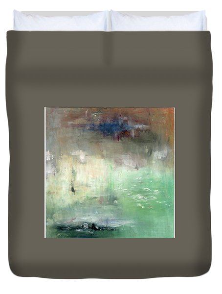 Duvet Cover featuring the painting Tropic Waters by Michal Mitak Mahgerefteh