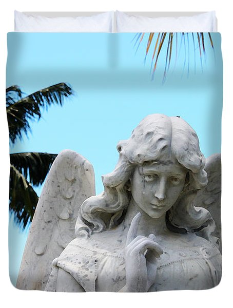 Tropical Angel With Tear Duvet Cover