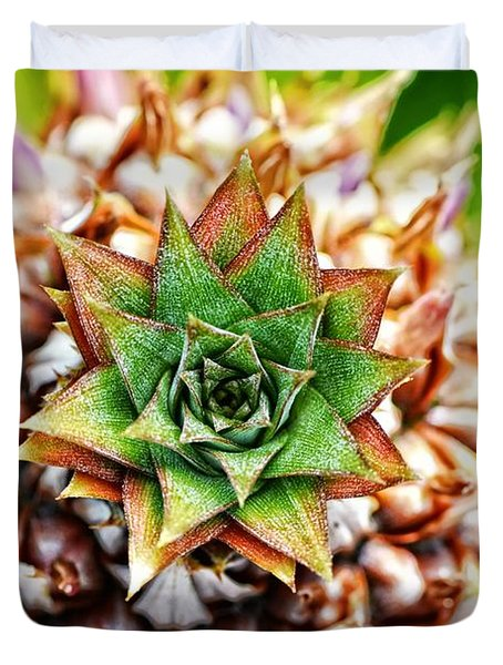 Tropical Art - Pineapple Punch - Sharon Cummings Duvet Cover