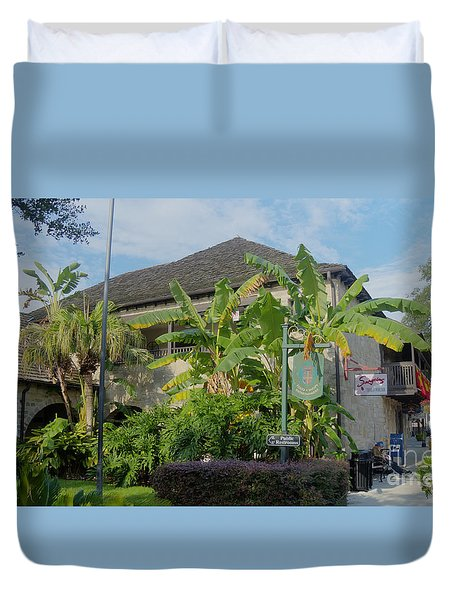 Tropical Atmosphere In St Augustine Duvet Cover