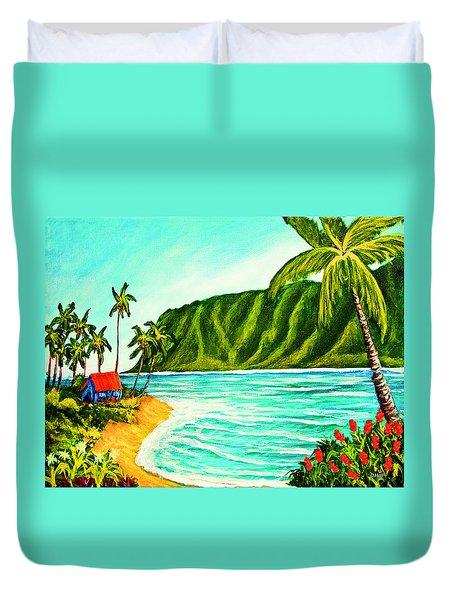 Tropical Beach #361 Duvet Cover by Donald k Hall