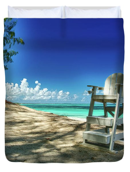 Tropical Beach Chair Duvet Cover