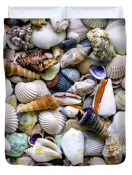 Tropical Beach Seashell Treasures 1500a Duvet Cover