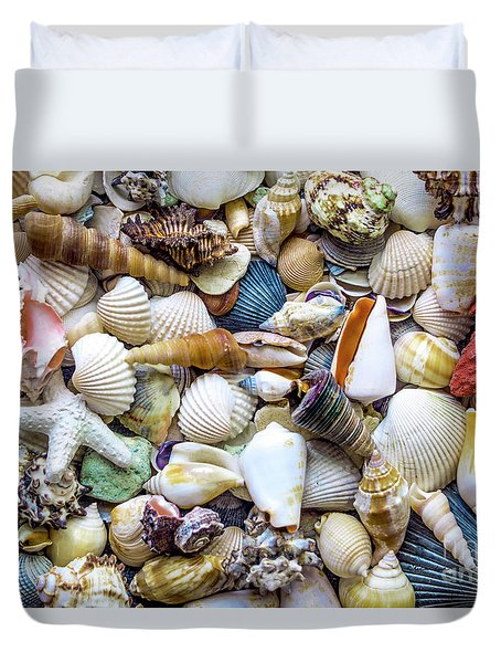 Tropical Beach Seashell Treasures 1529b Duvet Cover