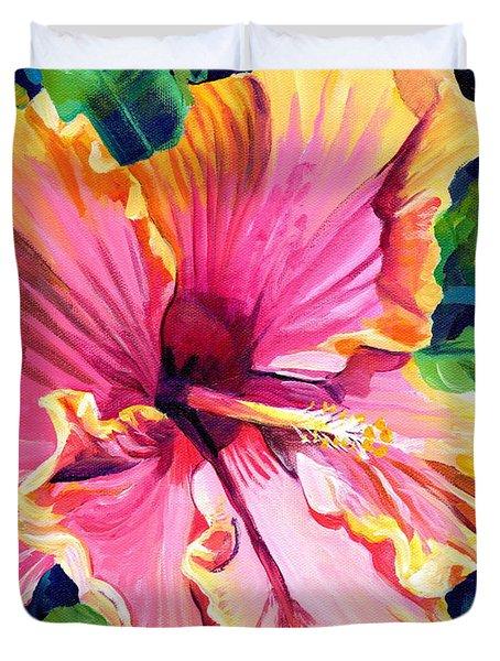 Tropical Bliss Hibiscus Duvet Cover