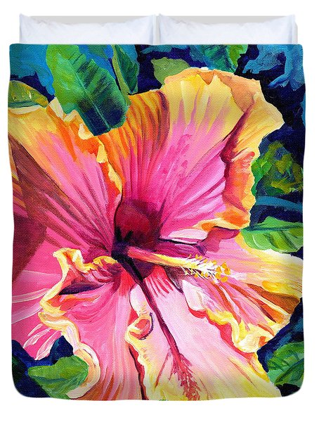 Tropical Bliss Hibiscus Duvet Cover