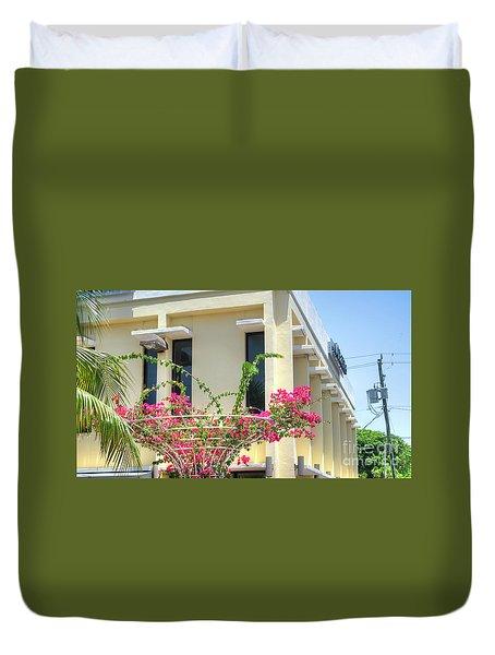 Tropical Bougainvillea Duvet Cover