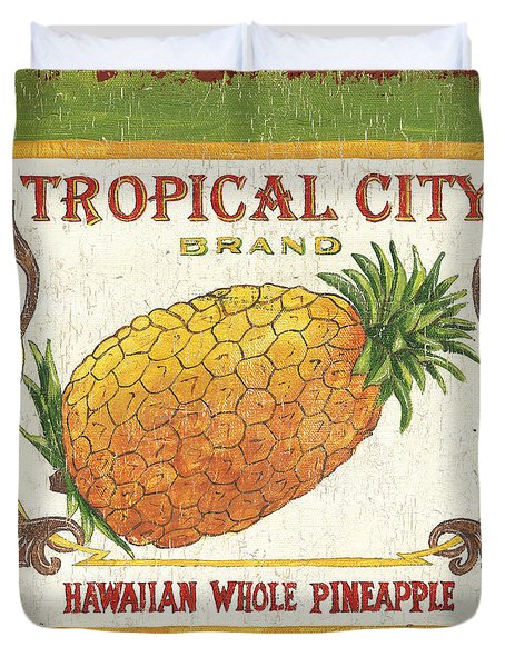 Tropical City Pineapple Duvet Cover