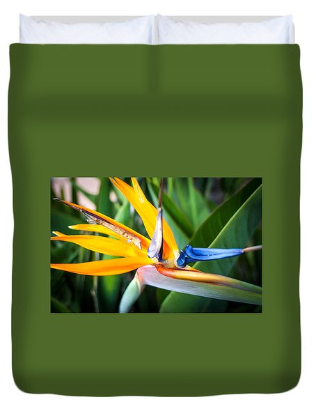 Duvet Cover featuring the photograph Tropical Closeup by T Brian Jones