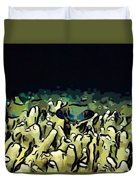 Tropical Coral Reef 1 Duvet Cover by Lanjee Chee
