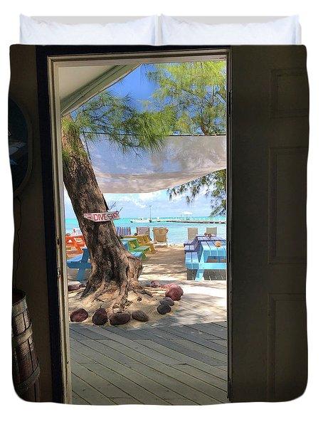 Tropical Entrance Duvet Cover