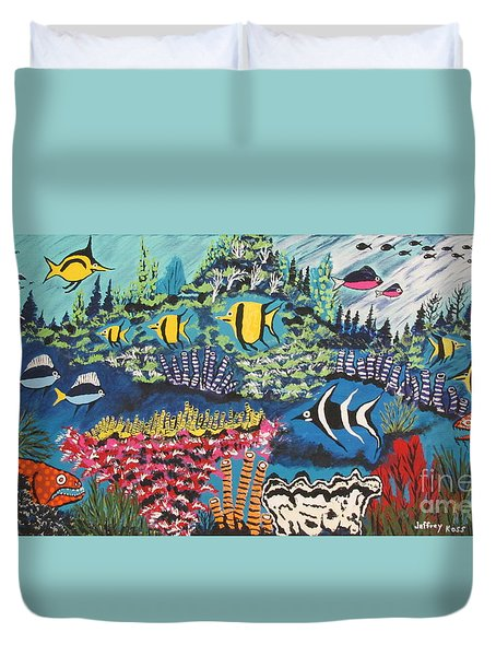 Tropical Fish Colors Duvet Cover by Jeffrey Koss