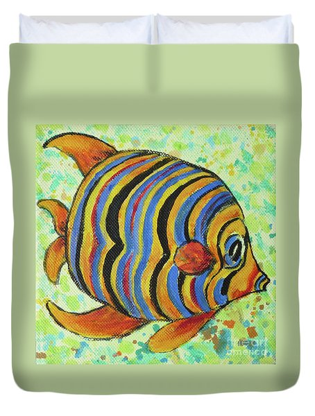 Tropical Fish Series 4 Of 4 Duvet Cover