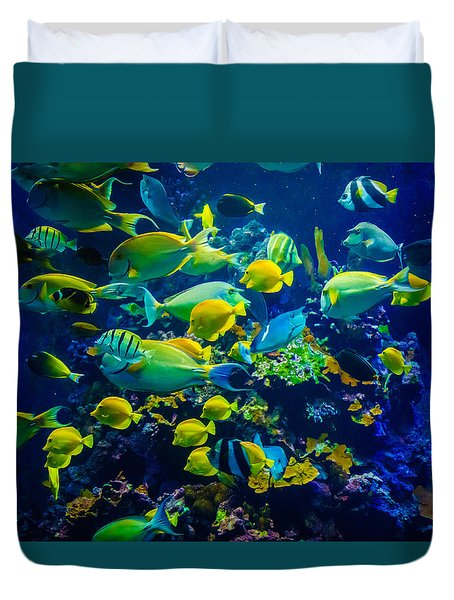 Tropical Fishes Of Maui Duvet Cover