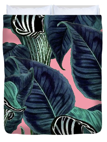 Tropical Flower Pattern Duvet Cover