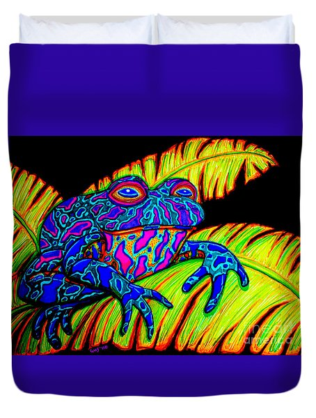 Tropical Frog Duvet Cover by Nick Gustafson