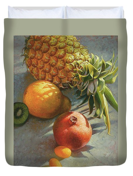 tropical Fruit Large Duvet Cover