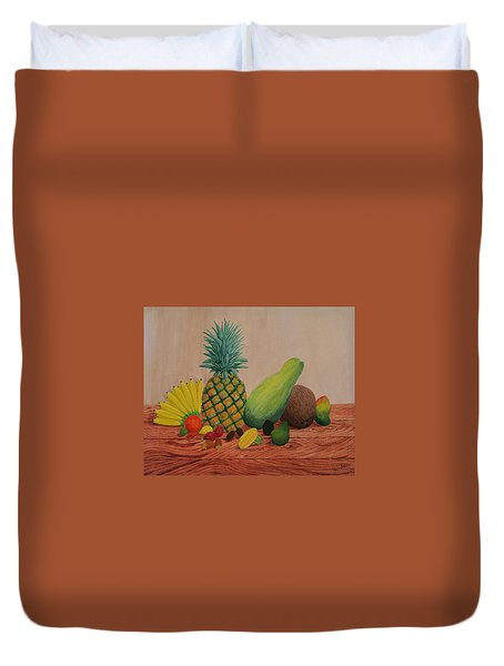 Tropical Fruits Duvet Cover